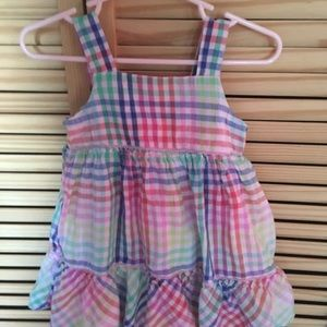 Euc Gap multi color plaid summer dress
